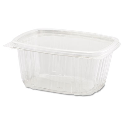 Clear Hinged Deli Container, 16oz, 5 3/8 x 4 1/2 x 2 5/8, 100/Ba