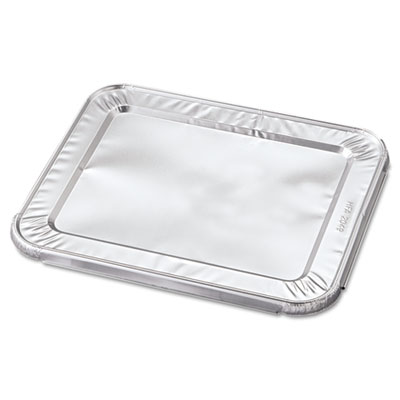 Steam Table Pan Foil Lid, Fits Half-Size Pan, 12 1/5 x 10 7/16 x