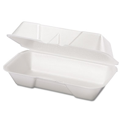 Foam Hoagie Container, 8 7/16 x 4 3/16 x 3 1/16, White, 125/Bag,