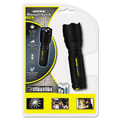 LED Aluminum Flashlight, 3 AAA, Black