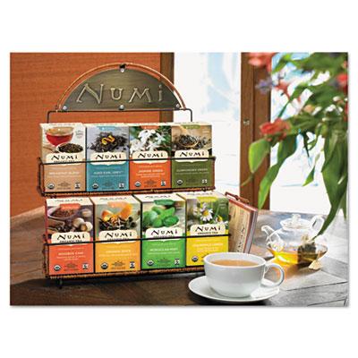 Tea Rack, 14 1/2 x 12 x 17 3/4, Black, 3 Boxes Each of 8 Flavors