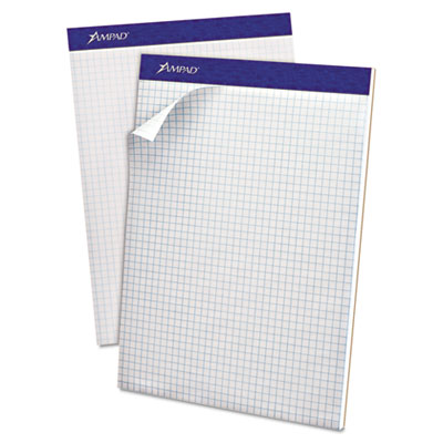 Double Sheet Quad Pad, 4 Sq. Per Inch Rule, Letter, White, Perfe