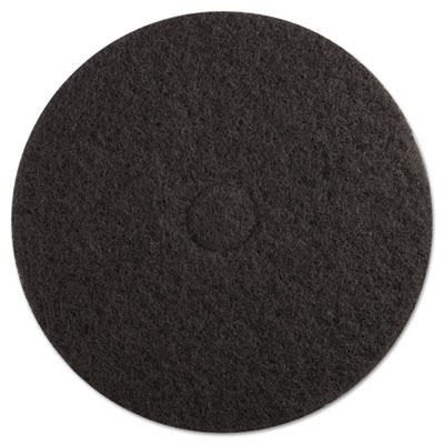 "Standard Floor Pads, 19"" dia, Black, 5/Carton"