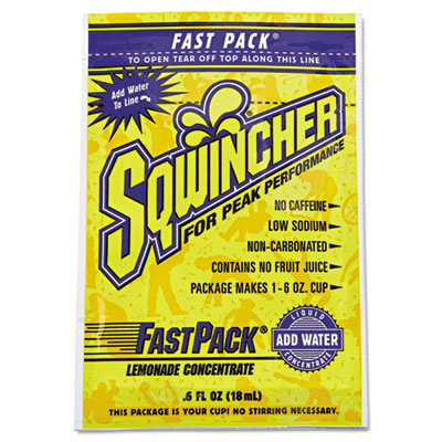 Fast Pack Drink Package, Lemonade, .6oz Packet, 200/Carton