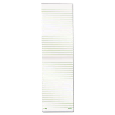 EcoLogix Memo Book, 6-3/4 x 4, Ruled, White Paper, Black Cover,