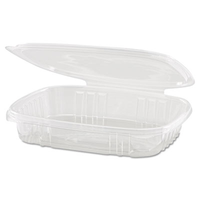Clear Hinged Deli Container, 16oz, 7 1/4 x 6 2/5 x 1, 100/Bag, 2