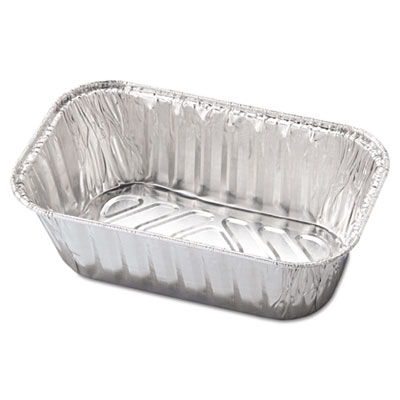 Aluminum Baking Pan, #1 Loaf, 5 23/32 x 3 5/16 x 2 1/32, 200/Car