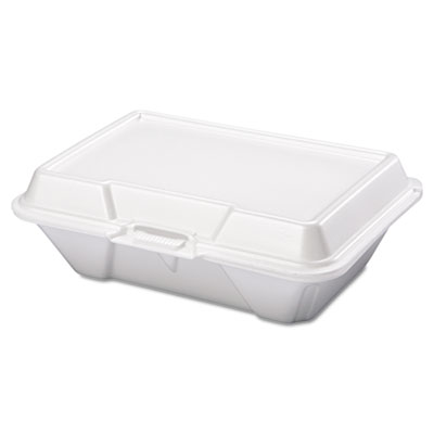 Foam Carryout Containers, 9 1/5 x 6 1/2 x 3, White, 100/Bag, 2 B