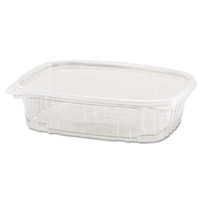 Clear Hinged Deli Container, 24oz, 7 1/4 x 6 2/5 x 2 1/4, 100/Ba