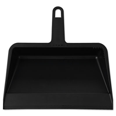 Value-Plus Polypropylene Dust Pan, 11 1/2w x 11d x 4h, Black, 12