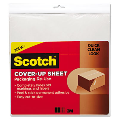 Cover-Up Sheet, 12 x 12, White, 6/Pk