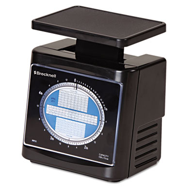 Mechanical Postal Scale, 5 lbs Capacity, 6 4/5 x 5 4/5 Platform