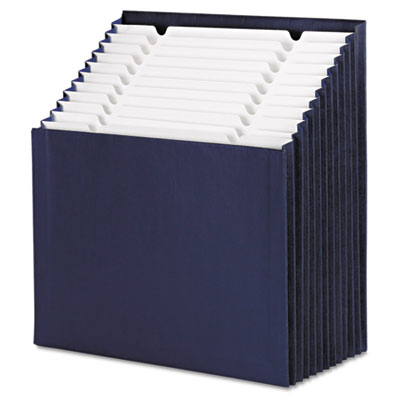 12-Pocket Stadium File, 12 1/4 x 13 5/8, Navy, Letter