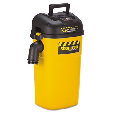 Wall Mount Vac, 5gal Capacity, 17lb, Yellow/Black