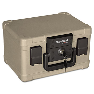 Fire and Waterproof Chest, 0.15 ft3, 12-1/5w x 9-4/5d x 7-3/10h,