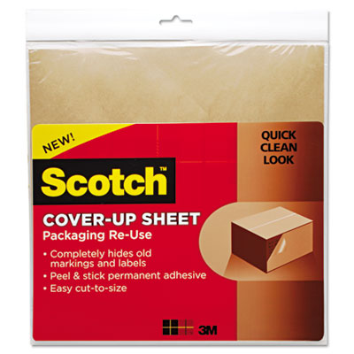 Cover-Up Sheet, 12 x 12, Brown, 6/Pk
