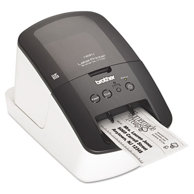 QL-710W Label Printer, 93 Labels/Minute, 5w x 9-3/8d x 6h