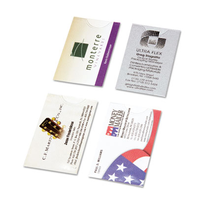 Business Card Holders for Looseleaf Planners, 5 1/2 x 8 1/2, 5/P