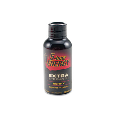 Extra Strength Energy Drink, Berry, 1.93oz Bottle, 12/Pack