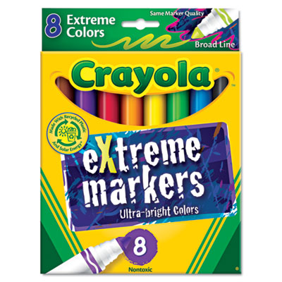 Extreme Color Marker, Assorted, 8/Pk
