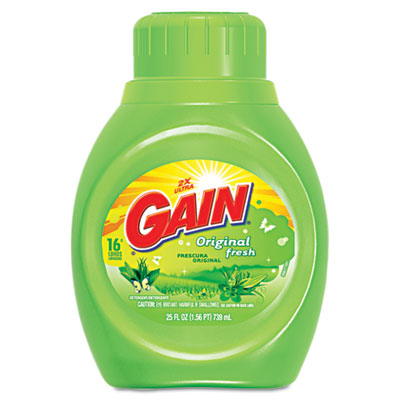 Liquid Laundry Detergent, Original Fresh, 25oz Bottle