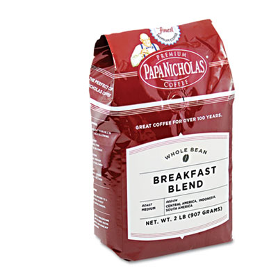 Premium Coffee, Whole Bean, Breakfast Blend