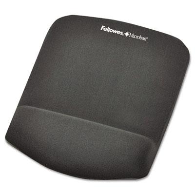"PlushTouch Mouse Pad with Wrist Rest, Foam, Graphite, 7-1/4"" x 9"