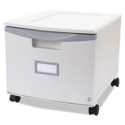 Single-Drawer Mobile Filing Cabinet, 14-3/4w x 18-1/4d x 12-3/4h