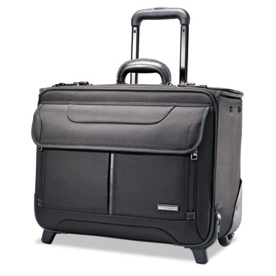 Wheeled Catalog Case, 17-1/4 x 7-1/2 x 13, Black