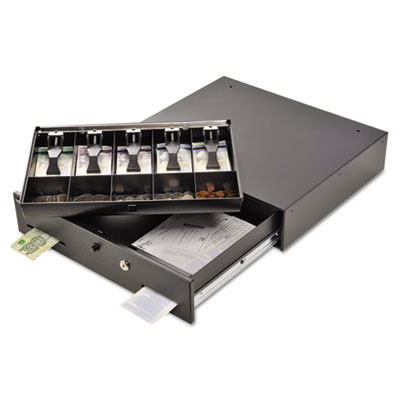 Alarm Alert Steel Cash Drawer w/key/Push-Button Release Lock, Bl