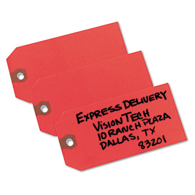 Shipping Tags, Paper, 4 3/4 x 2 3/8, Red, 1,000/Box
