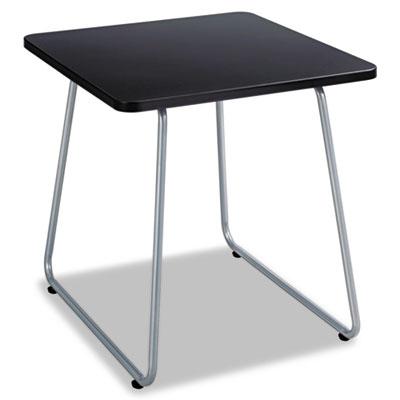 Anywhere End Table, 20w x 20d x 19-1/2h, Black/Silver