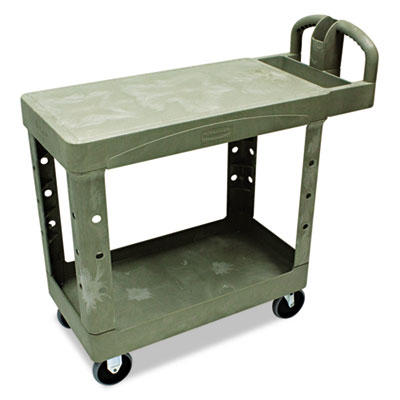Flat Shelf Utility Cart, Two-Shelf, 19-1/5w x 37-7/8d x 33-1/3h,