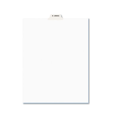 Avery-Style Preprinted Legal Bottom Tab Dividers, Exhibit W, Let