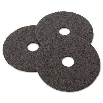 "Stripper Floor Pad 7200, 17"", Black, 5/Carton"
