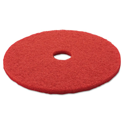 "Buffer Floor Pad 5100, 20"", Red, 5/Carton"