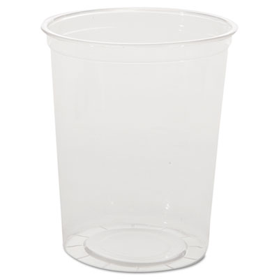 Deli Containers, Clear, 32oz, 50/Pack, 10 Pack/Carton