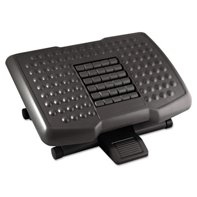 Premium Adjustable Footrest With Rollers, Plastic, 18w x 13d x 4