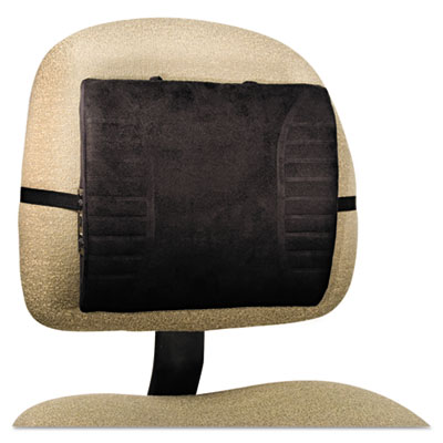 Massage Lumbar Cushion With Heat, 13-1/4w x 2-1/2d x 11-1/2h, Bl