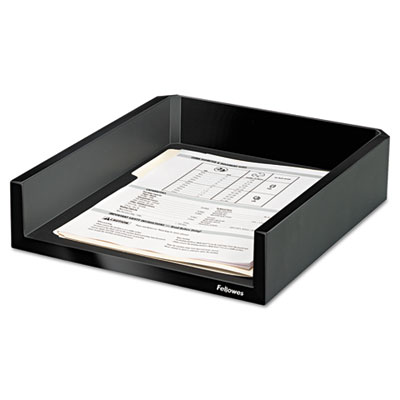 Design Suites Letter Desk Tray, 11 1/10 x 13 x 2 1/2, Black Pear