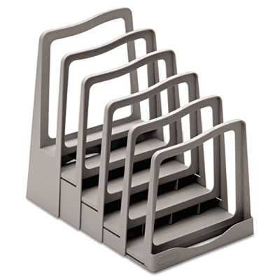 Adjustable File Rack, Five Sections, 8 x 10-3/4 x 11-3/4, Gray