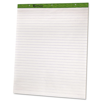 "Flip Chart Pads, 1"" Ruled, 27 x 34, White, Two 50-Sheet Pads"