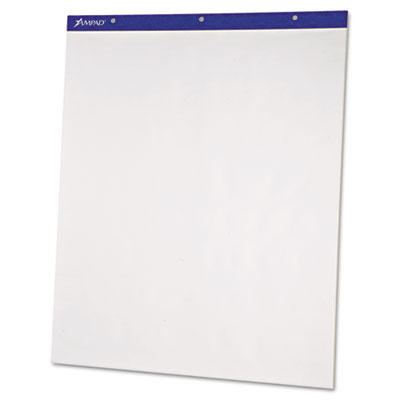 Flip Chart Pads, Unruled, 20 x 25-1/2, White, Two 50-Sheet Pads/