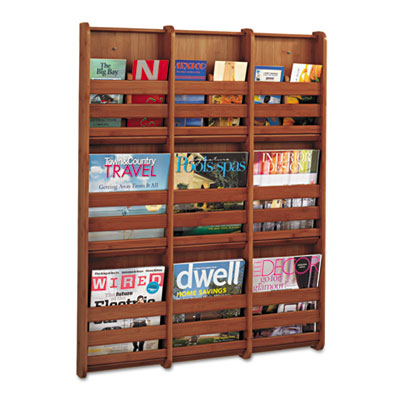 Bamboo Magazine/Pamphlet Wall Display, 29w x 1-3/4d x 37-3/4h, C