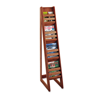 Bamboo Magazine/Pamphlet Floor Display, 10w x 18-1/4d x 56-1/2h,