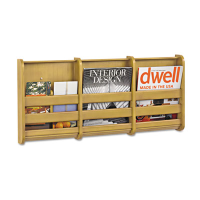 Bamboo Magazine/Pamphlet Wall Display, 29w x 1-3/4d x 13-1/4h, N