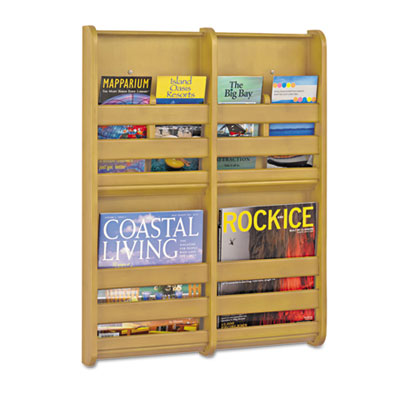 Bamboo Magazine/Pamphlet Wall Display, 19-1/2w x 1-3/4d x 25-1/2