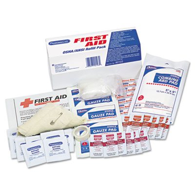 ANSI / OSHA First Aid Refill Kit, 48 Pieces/Kit