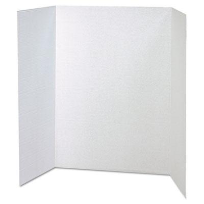 Spotlight Corrugated Presentation Display Boards, 48 x 36, White, 4/Carton<br />91-PAC-37634
