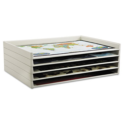 Giant Stack Flat File Trays, 45-1/2w x 34d x 3h, White, 2/Carton